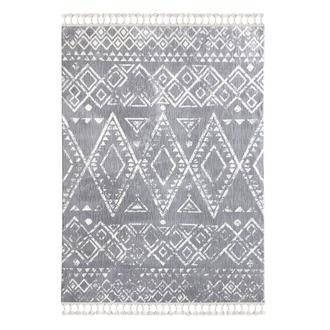 Payidar Moroccan Shaggy Halı - Gri / Beyaz - 120x180 cm