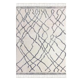 Payidar 1458A Moroccan Shaggy Halı (Beyaz/Gri) - 120x180 cm