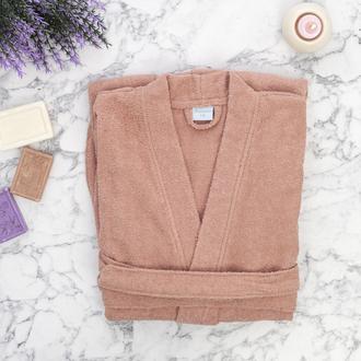 Nuvomon Plain Kadın Kimono Bornoz L/XL - Pudra
