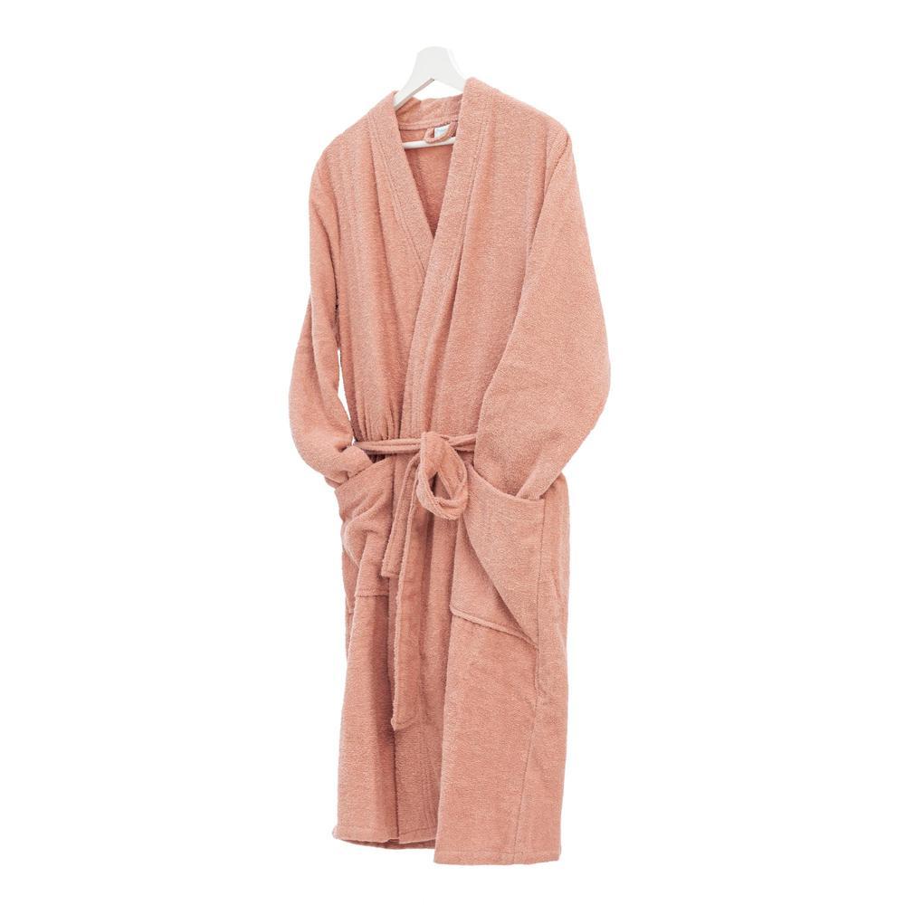 Nuvomon Plain Kadın Kimono Bornoz - Pudra -  S / M