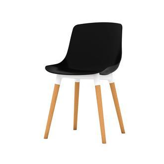 Just Home Shell Eames Düz Sandalye - Siyah