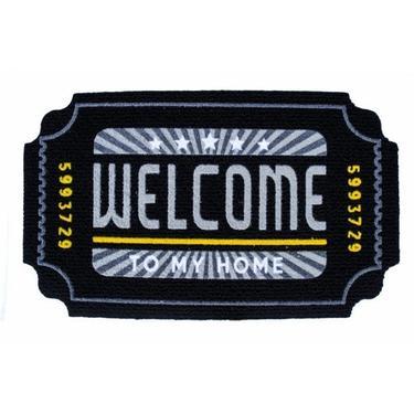 Giz Home İtalyan Kokardo Welcome Home Kapı Paspası - 40x70 cm