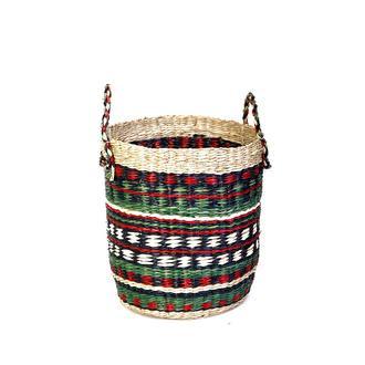 Kanca Ev Afrikan Etnik Hasır Sepet - Küçük