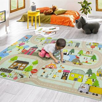 Koza Halı Hayvanlar Dot Taban Çocuk Halısı - 120x180 cm
