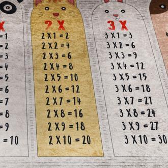 Koza Halı Çarpım Tablosu Dot Taban Çocuk Halısı - 120x180 cm