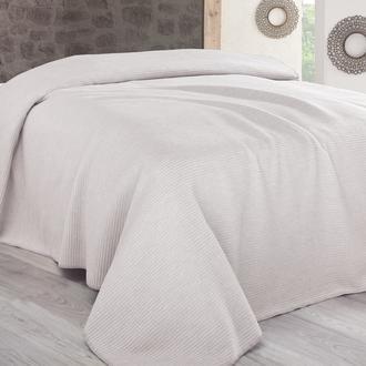 Sesli Lady Cotton Çift Kişilik Battaniye (Krem) - 200x220 cm