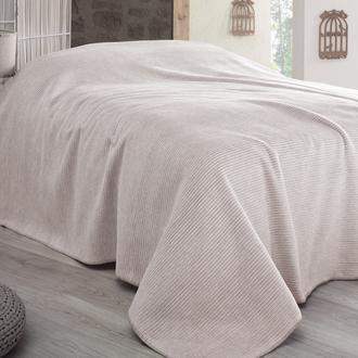 Sesli Lady Cotton Çift Kişilik Battaniye (Bej) - 200x220 cm