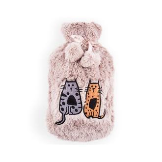 BiggDesign Cats Peluş Sıcak Su Torbası - Krem
