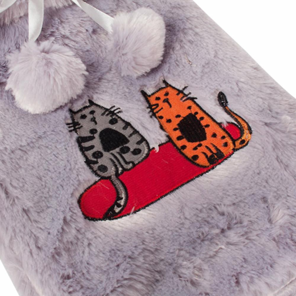 BiggDesign Cats Peluş Sıcak Su Torbası - Gri