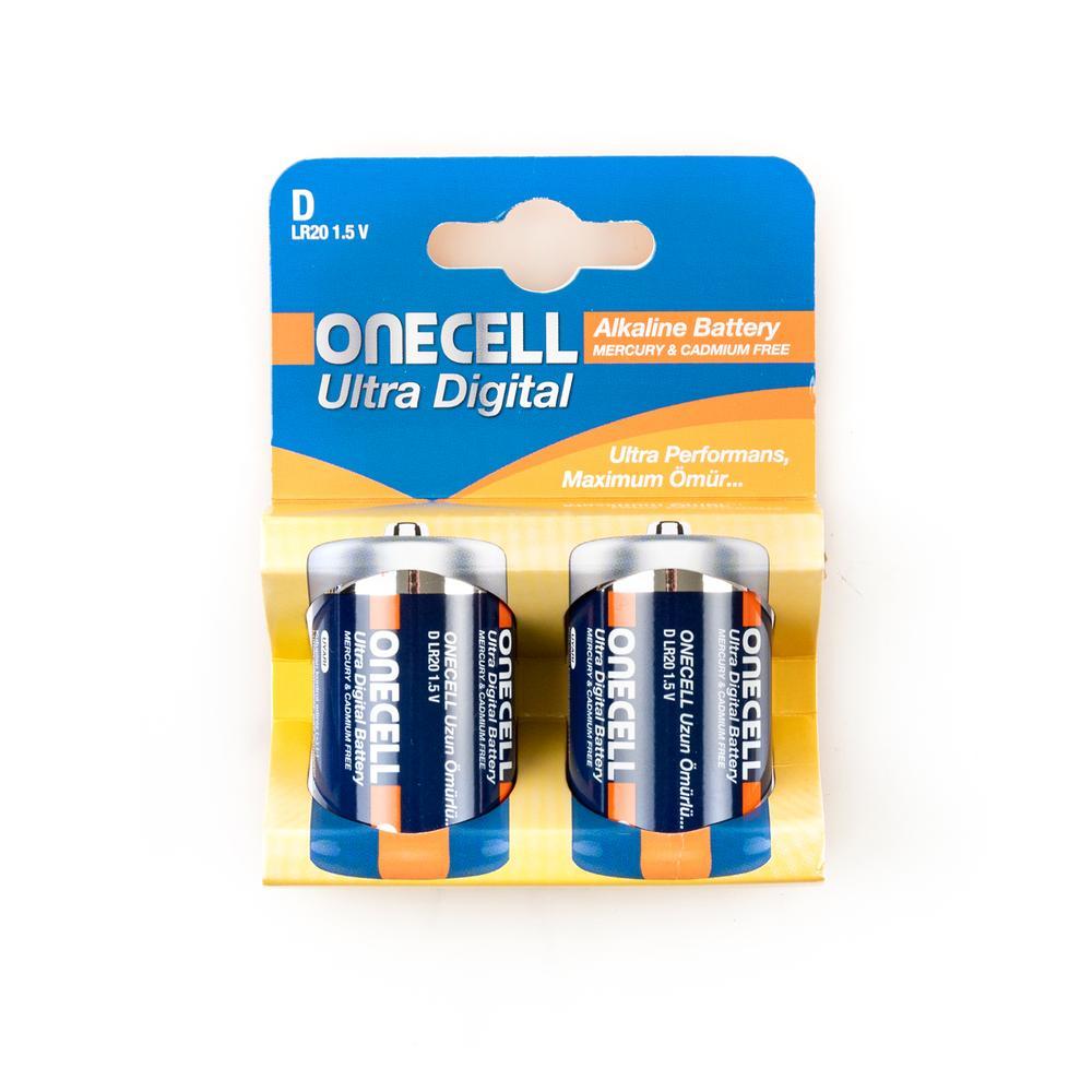 Onecell Ultra Dijital Alkalin D Boy 2'li Pil