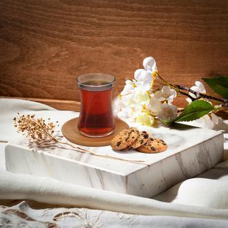 Berry 4 Parça Ahşap Çay seti - 150 Ml