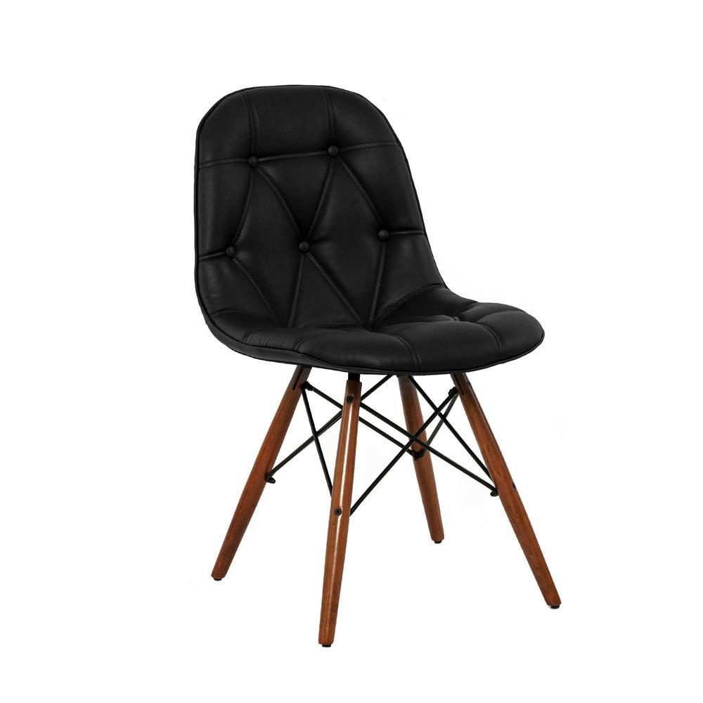Just Home Prizma Düğmeli Telli Sandalye - Siyah