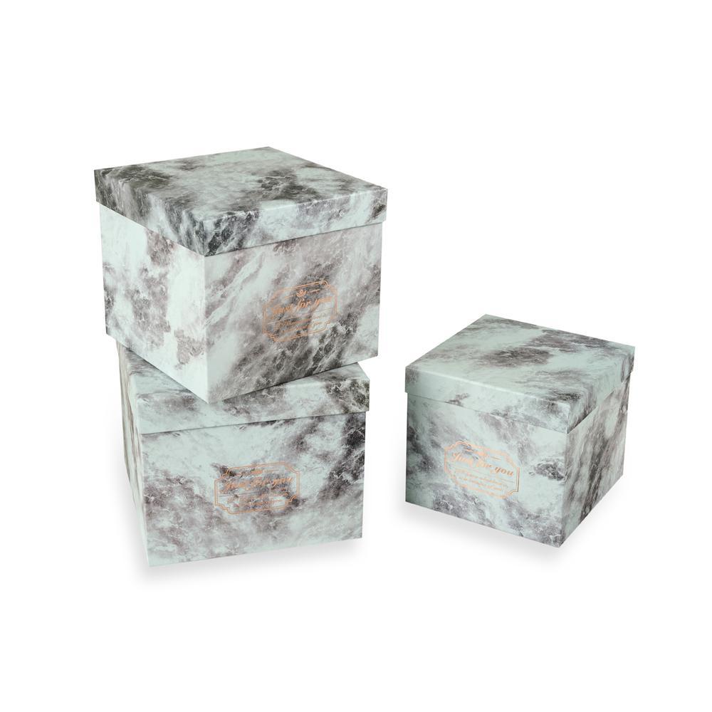 Tohana 3'lü Dekoratif Kutu - Beyaz