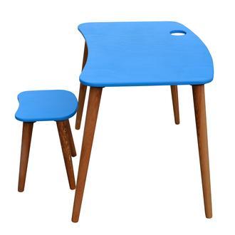 Just Home Damla Montessori Çoçuk Çalışma Masası Takımı - Mavi