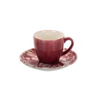 Marianna Granada 12 Parça Kahve Fincan Seti - Kırmızı