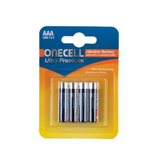 Onecell Ultra Premium Alkalin 1,5 V. 4'lü AAA Boy Pil