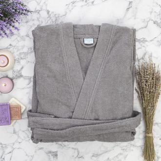 Nuvomon Plain Erkek Kimono Bornoz L/XL - Gri