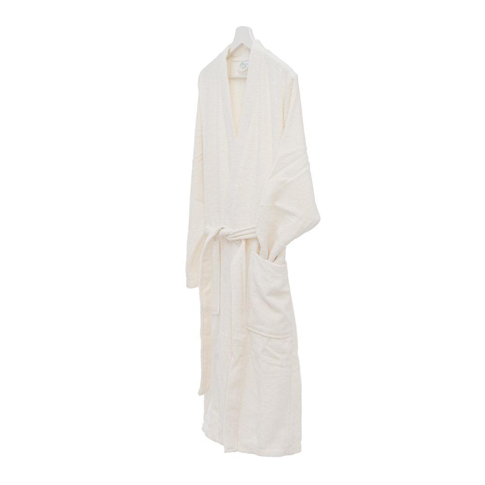 Nuvomon Plain Kadın Kimono Bornoz S/M - Ekru