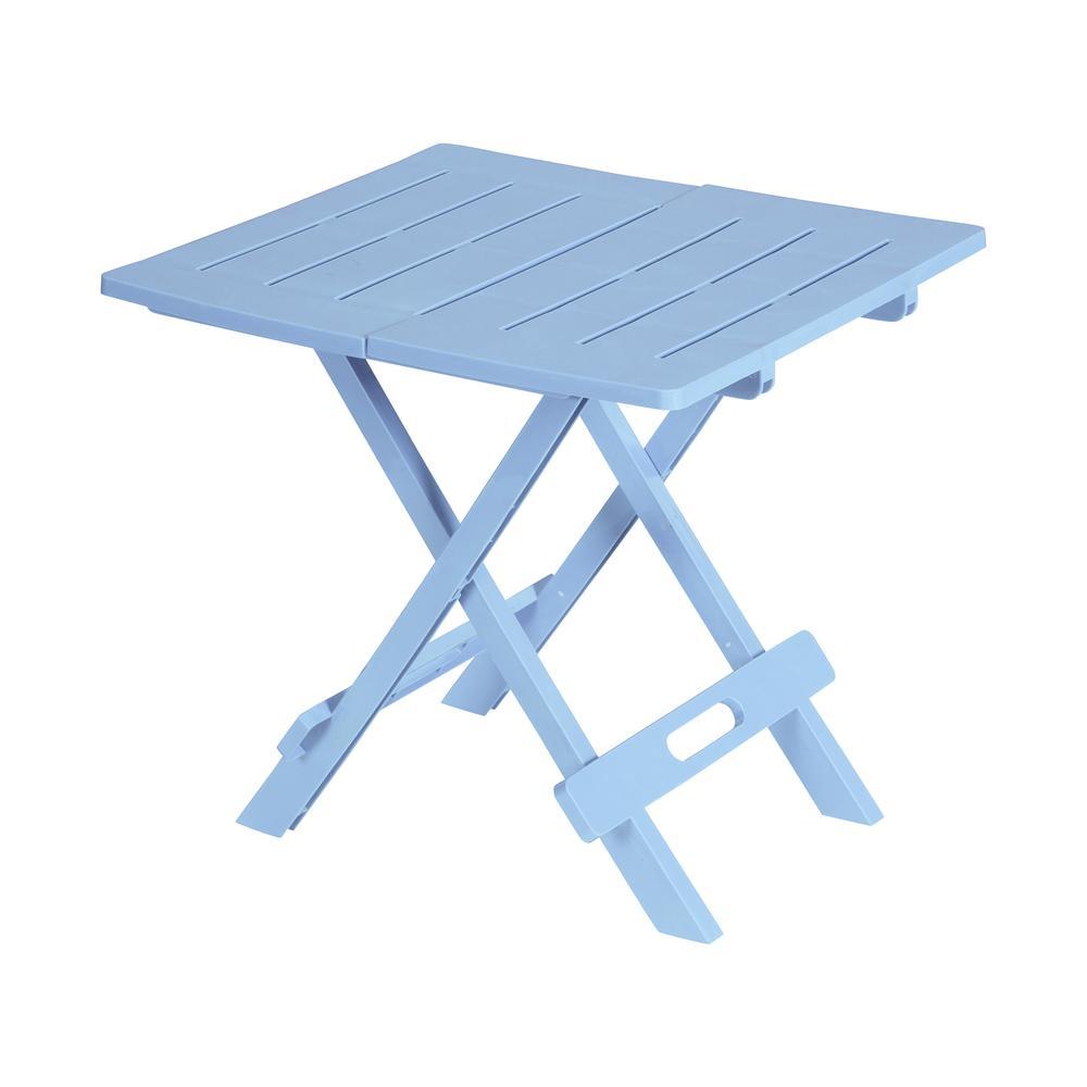 Saban Katlanır Bahçe/Balkon ve Piknik Masası - Açık Mavi