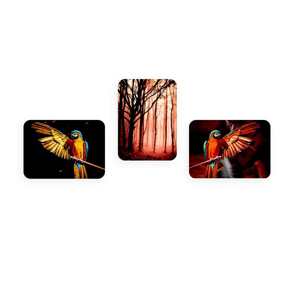 K Sanat Birds 3 Parçalı Mdf Tablo