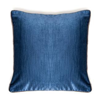 Premier Home Kadife Biyeli Kırlent (Lacivert) - 43x43 cm