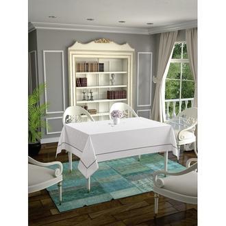 Daisy Ara Biyeli  Masa Örtüsü  - 160x160 cm - Beyaz