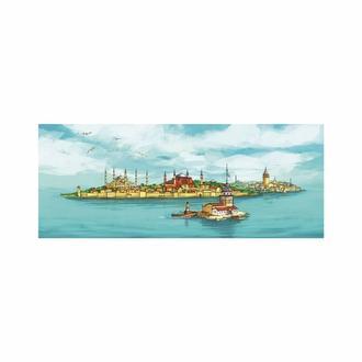 Özverler ISGE-0101 İstanbul-2 Kanvas Tablo