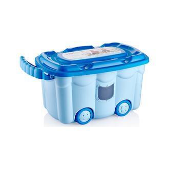 Babyjem Tekerlekli Oyuncak Kutusu - Mavi