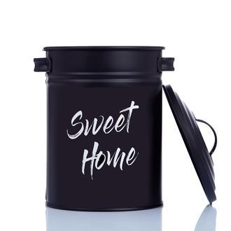 Evstyle Sweet Home Metal Sebze Saklama Kovası - Siyah / 3 Lt