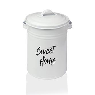 Evstyle Sweet Home Metal Sebze Saklama Kovası - Beyaz / 3 Lt