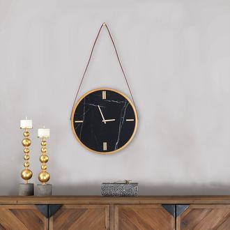 Q-Art Metal Çerçeveli Kırılmaz Cam Detaylı Duvar Saati 38 cm