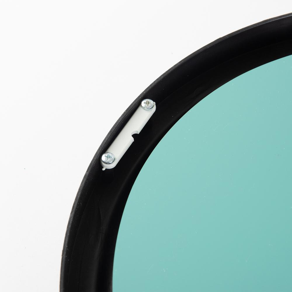 Galaxy Rustik Pencere Ayna - Siyah