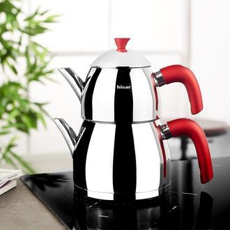 Hisar Burcu Soft Touch Çaydanlık - Kırmızı
