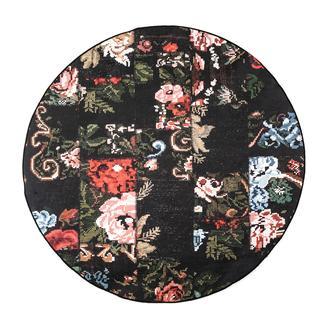 Giz Home Norma NR05 Patchwork Yuvarlak Halı 120 cm - Siyah