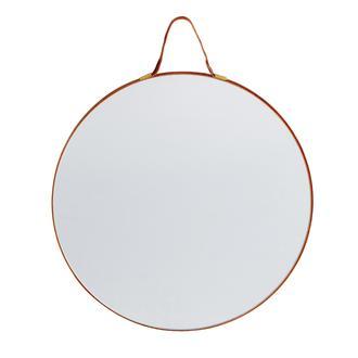 Q-Art Askılı Dekoratif Ayna - Kahverengi
