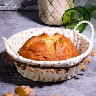 Kosova Hasır Yuvarlak Ekmek Sepeti - 27 cm