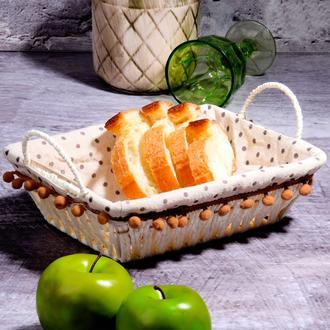 Kosova Hasır Dikdörtgen Ekmek Sepeti - 30 cm