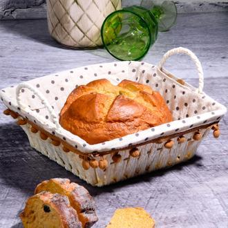 Kosova Hasır Kare Ekmek Sepeti - 25,5 cm