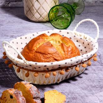 Kosova Hasır Oval Ekmek Sepeti - 30 cm