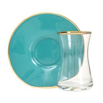 Glass In Love Bellis 12 Parça Çay Seti - Turkuaz