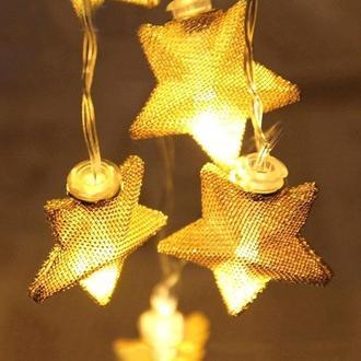 Urban Mood 10'Lu Sarı Yıldız Dekoratif Led Işık