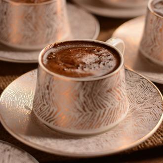 Bambum Lusso Prestij 12 Parça Kahve Fincan Seti - Altın