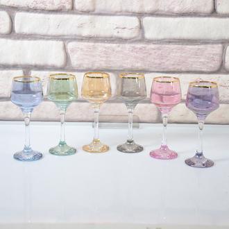 Lav Lal-506 6'lı Kahve Yanı Su Bardağı - Renkli/80 ml