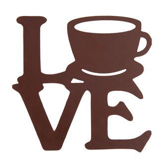 Retro Time Love Coffee Ahşap Duvar Panosu