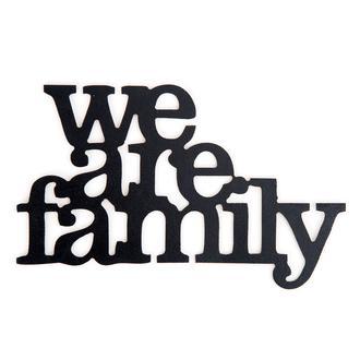 Retro Time We Are Family Ahşap Duvar Panosu