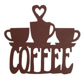 Retro Time Coffee Ahşap Duvar Pano