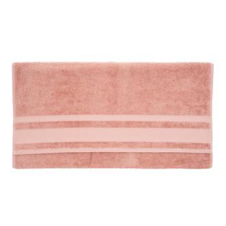 Nuvomon Basic Bordürlü Banyo Havlusu 70x140 cm- Pudra