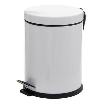 Dibanyo Pedallı Çöp Kovası - Beyaz - 5 lt