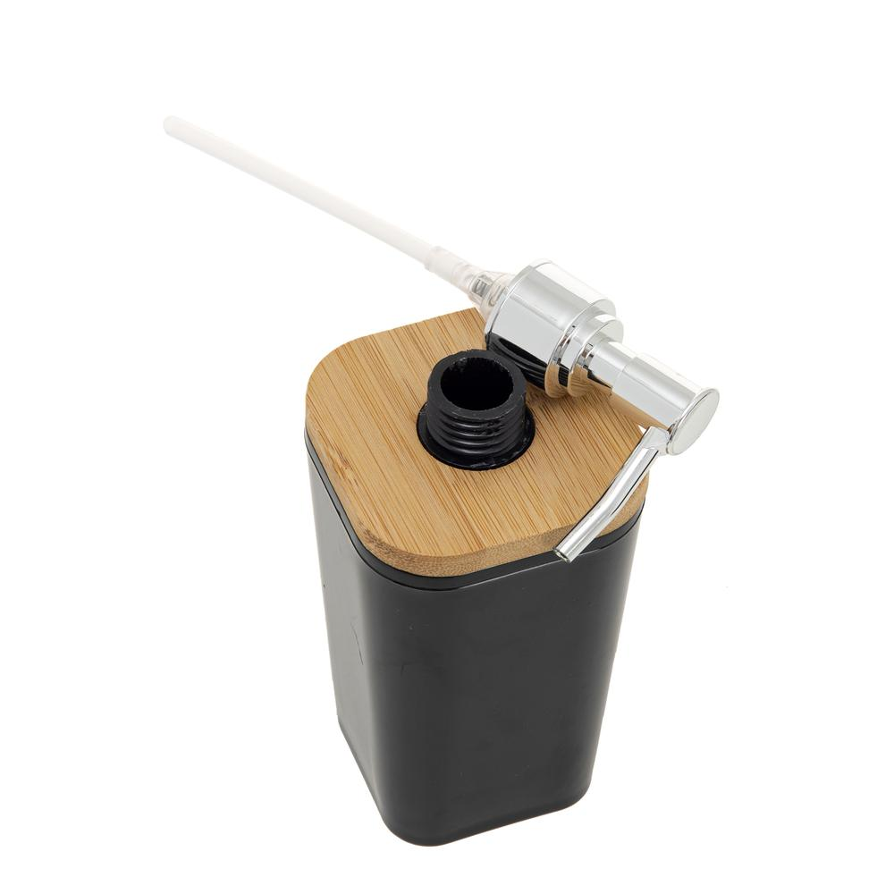 AquaLuna Bambu Kapaklı Sıvı Sabunluk-Siyah
