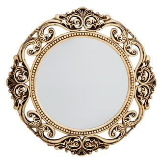 Galaxy Eskitme Oyuklu Ayna - Gold/Krem